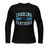 Carolina Panthers Team Honor Tee Shirt L Black For Women Long Sleeve