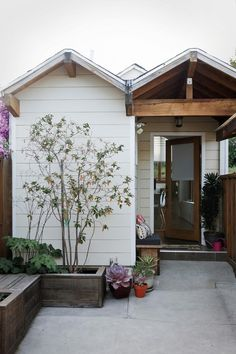 Studio Tour - Design*Sponge  Backyard garage workspace