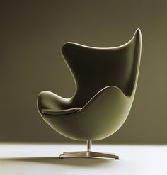 Arne Jacobsen designed the Egg chair in 1958 for the lobby and reception areas in the Royal Hotel, in Copenhagen.  produced by Fritz Hansen