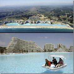 Avec ces 1 kilomètre de long, voici la plus grande piscine du monde au #Chili !
