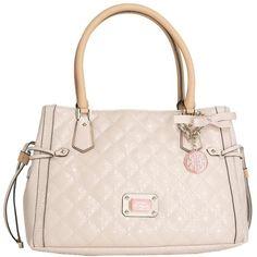 Guess Juliet Girlfriend Satchel ($129) ❤ liked on Polyvore featuring bags, handbags, pink satchel bag, guess satchel, satchel style handbags, pink purse and guess purses