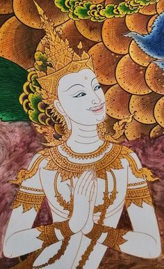 Art Painting, Batik, Painting, Art, Thailand Tattoo, Street Art, Thai Art, Zelda Characters