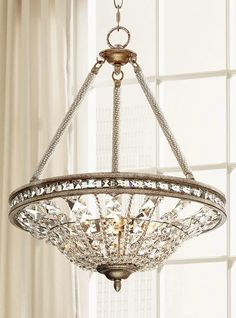 New Ikea Large Rimfrost Crystal 3 Tiered Chandelier Shade
