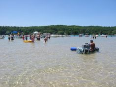 Torch Lake.  Such beautiful, clear water!