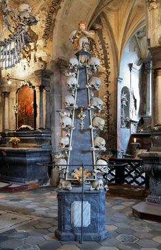 Adorned with the skeletons of an estimated 40,000 human bodies, the Sedlec Ossuary has become one of the Czech Republic's creepiest tourist attractions.