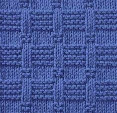 Knitting pattern (particularly good for blankets and much easier than it looks . Knitting pattern (particularly good for blankets and much easier than it looks!) Record of Knitting String rotating, wea. Knit Purl Stitches, Knitting Stiches, Easy Knitting, Loom Knitting, Stitch Patterns, Knitting Patterns, Knit Dishcloth, How To Purl Knit, Knitting Projects