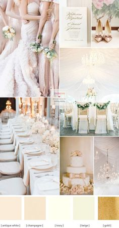 Champagne wedding colors { Elegance Wedding Palette }