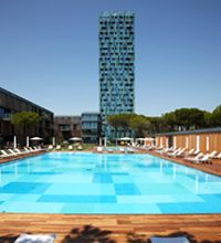 Luxury hotel pool designed by Trend Group mosaic tiles.