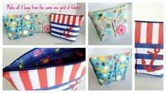 Sew easy cosmetics bags