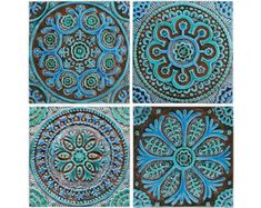 Outdoor Decorative Tiles For Walls Custom Mandala Wall Decor Made From Ceramic Outdoor Wall Art Ceramic Decorating Design