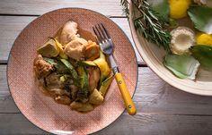 Κουνέλι λεμονάτο με αγκινάρες, κολοκύθια και δεντρολίβανο Kai, Rabbit, Cooking, Bunny, Kitchen, Rabbits, Kochen, Brewing, Cuisine
