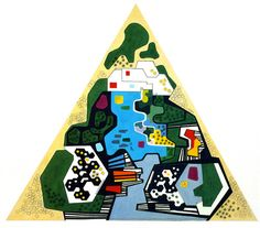 A few from the amazing Roberto Burle Marx, modernist Brazilian landscape artist in late 50s/early 60s. (1 of 5)