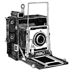 Old Timey Vintage Camera Drawing by Karl Addison - Old Timey Vintage Camera Fine Art Prints and Posters for Sale Camera Sketches, Camera Drawing, Camera Art, Camera Life, Pinhole Camera, Antique Cameras, Old Cameras, Vintage Cameras, Camera Illustration