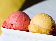 Great recipes for homemade sorbets ... just need a blender!