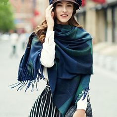 http://www.buyhathats.com/green-and-blue-plaid-scarves-women-fashion-autumn-shawl.html