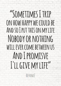 romantische quote Beyoncé