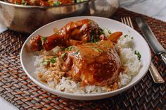 Chicken Adobo - var, after cooked, top with Banana Sauce and Grill or Bake