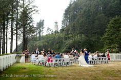Oregon Coast Wedding, Heceta Lighthouse Josh Finsel and Amber Breiner photography.