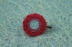 Ružovo biela látková brošnička Stud Earrings, Floral, Flowers, Jewelry, Jewlery, Jewerly, Stud Earring, Schmuck, Jewels