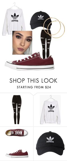 """""""basic b*tch"""" by ils02cleve on Polyvore featuring Topshop, Madewell, Converse and adidas"""