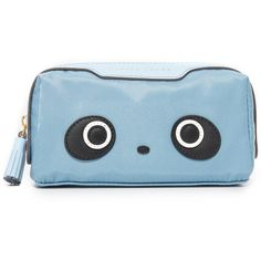Anya Hindmarch Girlie Stuff Kawaii Panda Pouch (1 985 SEK) ❤ liked on Polyvore featuring beauty products, beauty accessories, bags & cases and anya hindmarch