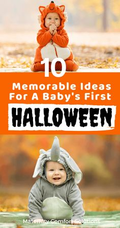 Baby's First Halloween tips and ideas to make the holiday special and stress-free for you and your baby! Baby's first Halloween can be memorable with these creative ideas! Baby First Halloween Costume, Babys 1st Halloween, Halloween Cans, Pregnant Halloween, Family Halloween Costumes, Halloween Ideas, Halloween 2015, Baby Costumes, Halloween Stuff