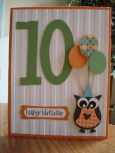 Stampin' Up! Owl Birthday Punch Art