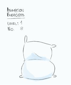 "Animation Exercise:Level 1No. 8 ""Flour Sack Waving"" (hmm, more like a pillow case) I'm off to Korea for a holiday - an appropriate gif! The rest of the Level one exercises are cued up so they'll come out for the next 3 days :)"