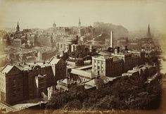 Old Town Edinburgh from Calton Hill c. 1870