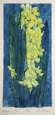 'Hyacinth'  Collagraph  Di Oliver