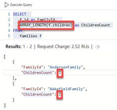 Counting items with the SQL API on Azure Cosmos DB