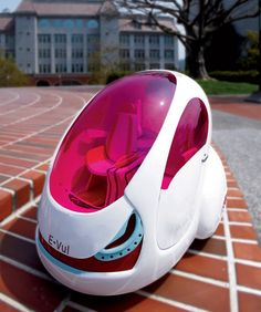 E-Vul Car, 2030, future, pink, futuristic, auto, fantastic, vehicle, sci-fi, unique, electric vehicle, ev, green car, Chao Chin-Wei, Huang Wan-Ting, urban transportation