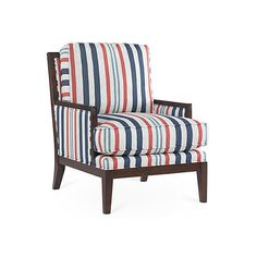 Laguna Chair Navy/Coral Stripe Accent & Occasional Chairs ($1,799) ❤ liked…