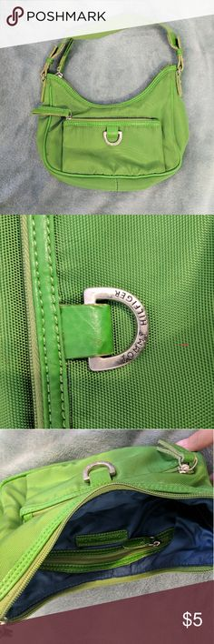 Small Green Tommy Hilfiger Purse Has front zipper pocket and small zipper pocket on the inside Tommy Hilfiger Bags Mini Bags