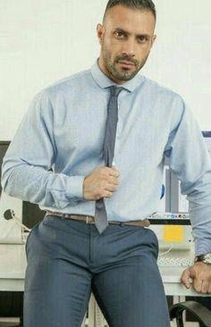 Khaki Suits, Mens Suits, Men In Tight Pants, Formal Men Outfit, Hunks Men, Designer Suits For Men, Beard Styles For Men, Hommes Sexy, Men In Uniform