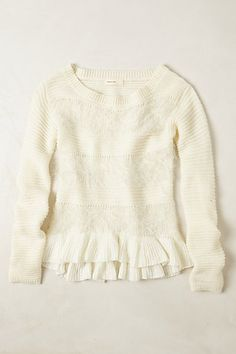 cozy cream sweater from Anthropologie
