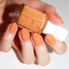 "#essieresort2016 Essie 'taj-ma-haul' a spicy marigold apricot #essielove #laurenslist"""