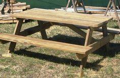 Cómo construir una mesa para picnic