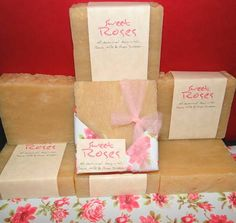 All Natural Sweet Roses Home Made Soap