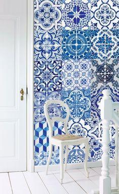 Esta Home Ginger Wallpaper XXL delft blue 158002
