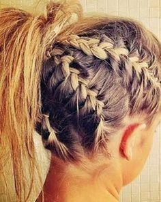 White girl cornrows section off hair and French braid. White Girl Cornrows, Cornrows For Girls, Cornrows Braids White, White Girl Braids, Tail Braids, Hair Day, New Hair, Pretty Hairstyles, Braided Hairstyles