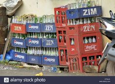 Empty Cold Drink Bottles In Tiracol At Goa India Stock Photo, Royalty Free Image: 83596866 - Alamy