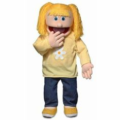 Amazon.com: Katie Peach Professional Puppets Kids Toys with Removable Legs, 30 x 12 x 10 (in.): Toys & Games--We'd love to have her on the team! Her hair would bounce and swing everywhere when she dances and sings.