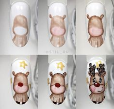 99 Beautiful Nail Art Design Ideas To Try In Summer Disney Christmas Nails, Christmas Nail Art Designs, Xmas Nails, Winter Nail Designs, Winter Nail Art, Holiday Nails, Winter Nails, Fancy Nails, Cute Nails