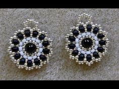 B&B Discs Project. These little discs were designed by Janice Chatham and published in Bead & Button February I used the design for earrings. Very cute and easy pattern! Used in this video: Sizes 110 and 80 seedbeads round bead. Beaded Tassel Earrings, Beaded Anklets, Seed Bead Earrings, Beaded Bracelets, Beaded Jewelry Patterns, Earring Tutorial, Jewelry Making Tutorials, I Love Jewelry, Creations