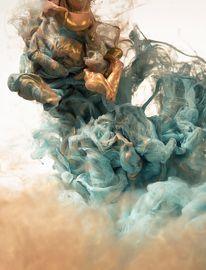 Photography / metallic ink shot on water — Designspiration