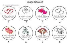324 Personalized WEDDING Hershey Kiss Favor Labels, Wedding Sticker / Wrapper Favours