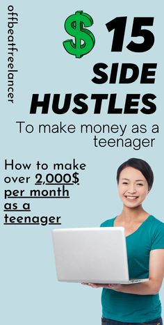 To make money try these side hustles from home and start working from home. #sidejobs #workfromhome #earnmoneyfromhome #moneytips