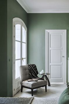 January Moodboard : Sage Green - Living room green - Home Sage Green Paint, Sage Green Bedroom, Sage Green Walls, Living Room Green, Green Rooms, Gray Green, Green Sage, Sage Color, Green Wall Color