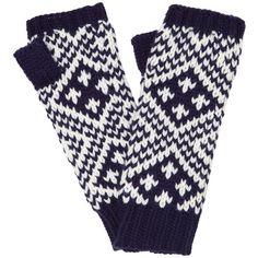 John Lewis Classic Fairisle Monostitch Mittens, Navy/Cream ($20) ❤ liked on Polyvore featuring accessories, gloves, fair isle mittens, fair isle gloves, cream gloves, john lewis and mitten gloves